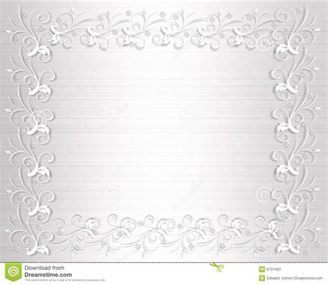 wedding invitation border white satin stock illustration