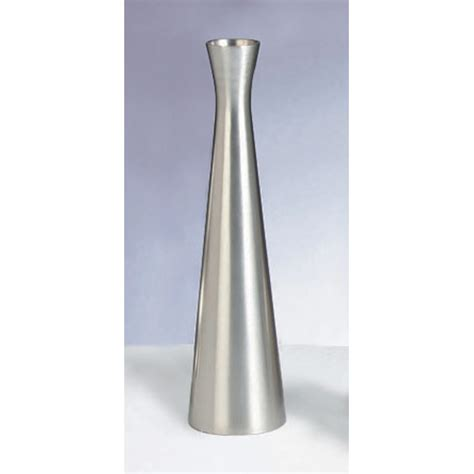 Stainless Steel Flower Vase by Tablecraft 267 Metal Flower Vase 6 1 2 Quot H Brushed