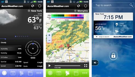 accuweather android app accuweather app update replaces smartphone lock screens hothardware