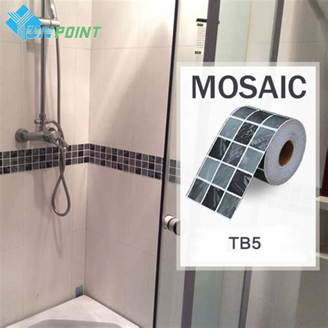 ceramic tile stickers bathroom classical mosaic stickers vinyl waterproof waistline self adhesive wallpaper kitchen