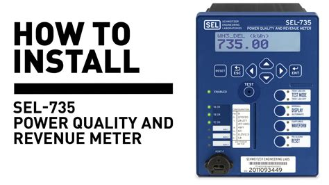how to m how to install sel 735 power quality and revenue meter
