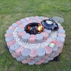 Decorative Cinder Blocks Home Depot how to be creative with stone fire pit designs backyard