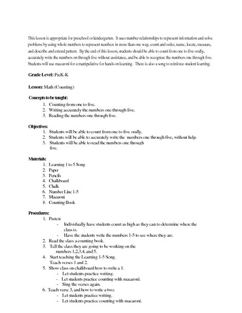 pattern math lesson plans for kindergarten lesson plan kindergarten madrat co