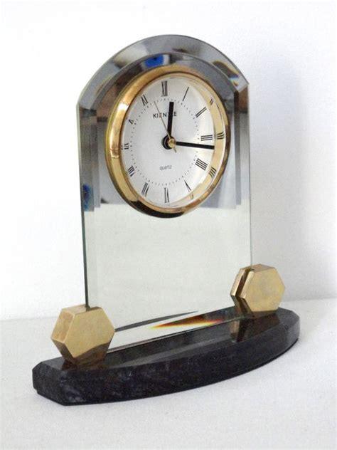 Half Glass Clock glass table clock kienzle 2nd half of 20th century
