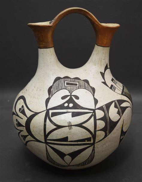 Acoma Wedding Vase by Acoma Pottery Wedding Vase R G Munn Auction Llc