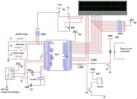microcontroller based home security system circuit diagram