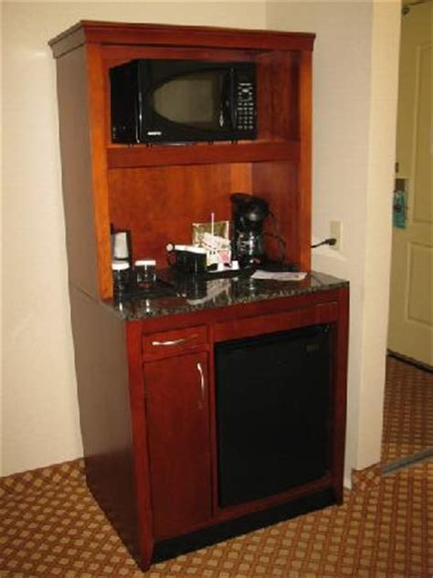 mini fridge and microwave cabinet premium bath products picture of hilton garden inn