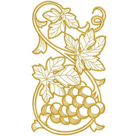 cenefas de uvas en punto de cruz vertical cenefas uvas 2