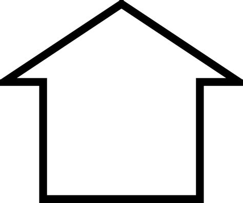 house outline outline house clipart best