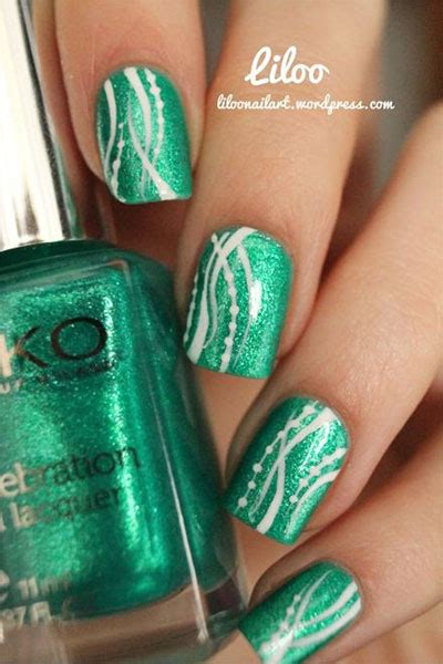 easy nail art with green and black nail designs for a green dress 2017 2018 best cars reviews