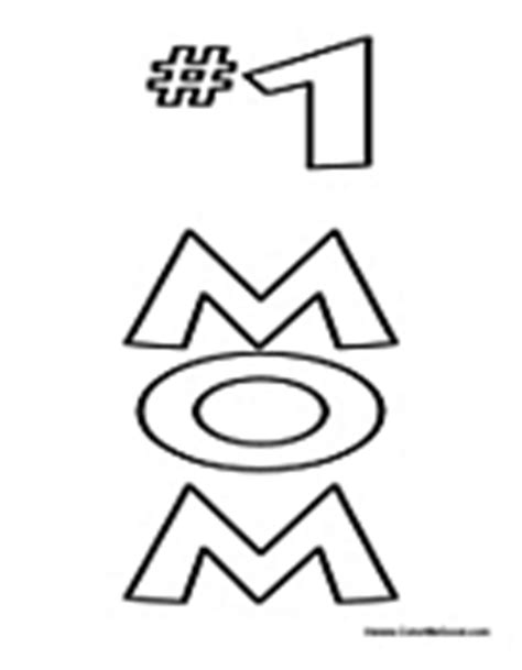 coloring pages number 1 mom mother s day coloring pages