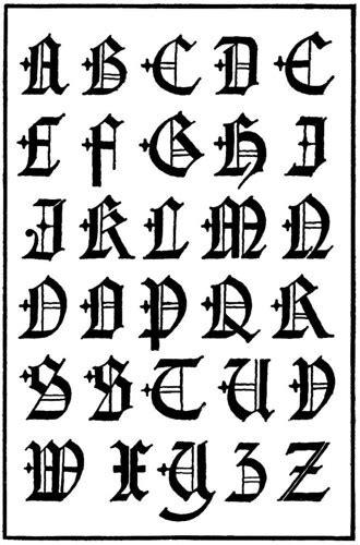 20 Tipos de letras para dibujar (graffitis y goticas