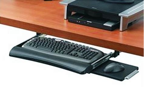 Best Keyboard Drawer by This Adjustable The Desk Keyboard Tray From Fellowes