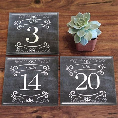 chalkboard place cards template 25 best ideas about chalkboard table numbers on