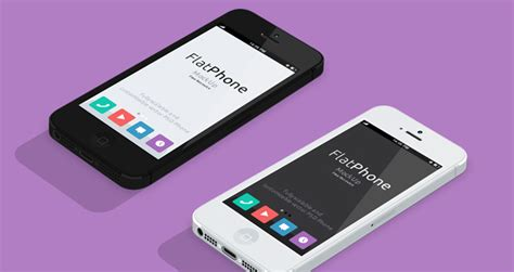 flat design app mockup iphone 5 psd flat design mockup psd mock up templates