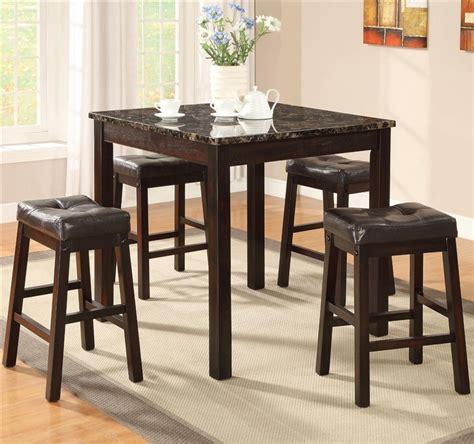 5 piece counter height dining set sophia 5 piece marble sophia 5 piece counter height dining set in cappuccino