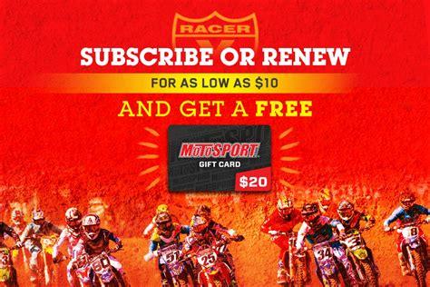 Motosport Gift Card - racer x online motocross supercross news