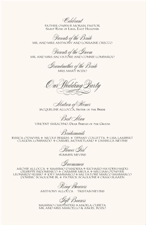 church wedding program templates