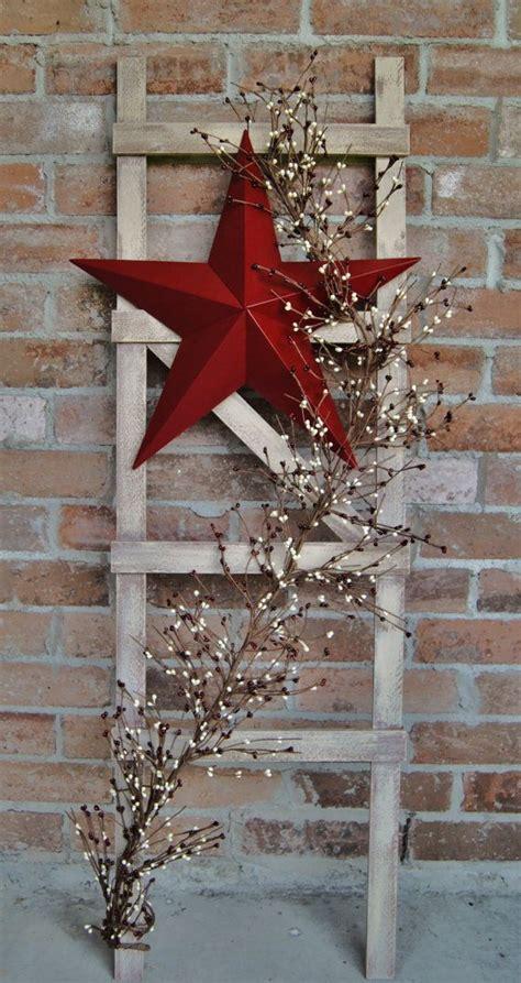 rustic ladder ideas  pinterest decorative
