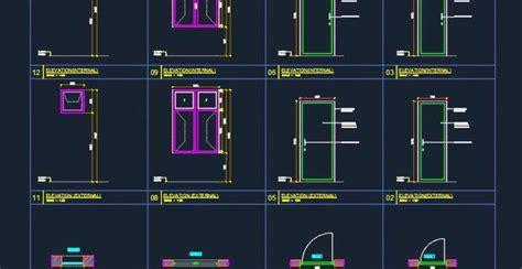 door window basic cad drawing autocad dwg plan  design