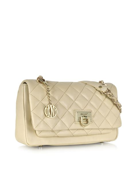 Dkny Quilted Nappa Leather Bag by Dkny Gansevoort Quilted Nappa Leather Chain Shoulder Bag
