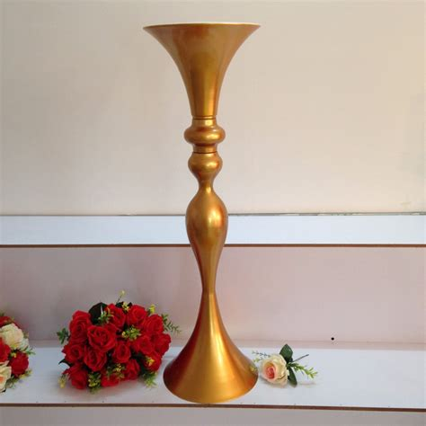 Vases For Centerpieces For Weddings Free Shipping Wholesale Wedding Supplies Gold Trumpet