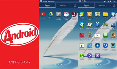 what is android 4 4 2 samsung galaxy note 2 starts receiving android 4 4 2 kitkat