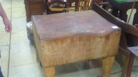 Kitchen Island Antique by Antique Large Butcher Block With Dovetail Joints Youtube