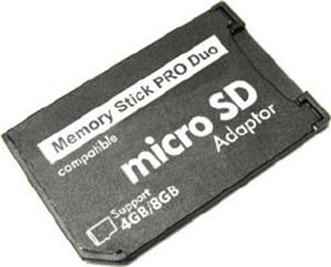 Micro Sd Psp psp micro sd t flash to memory stick pro duo adapter support micro sdhc up to 8g