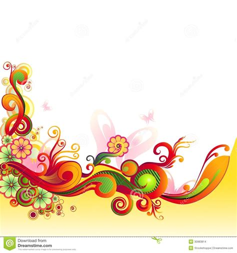 colored beautiful flowers design graphics vector flower 13 rainbow swirl floral vector images colorful doodle