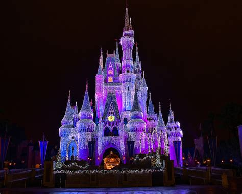 Disney World Lights by Disney Cinderella Castle Lights Explored Flickr