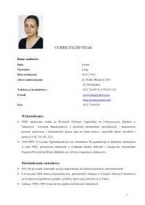 Curriculum Vitae Resume Format Doc by Iwona Lang Cv Doc