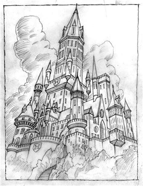 coloring pages of hogwarts castle 8 images of hogwarts castle coloring page black and
