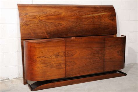 art deco headboards antique rosewood art deco queen size headboard and