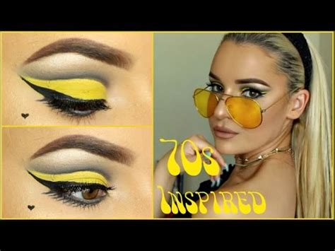 makeup for women in their 70s tutorial yellow 60s 70s inspired makeup tutorial youtube