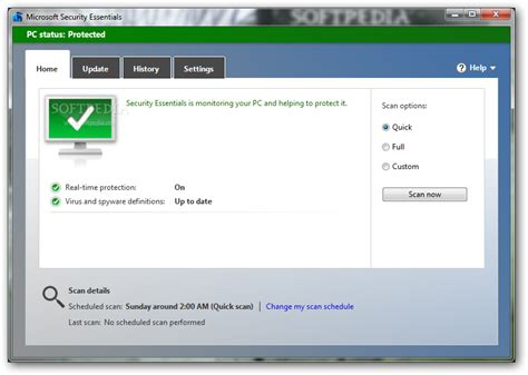 Antivirus Security microsoft security essentials