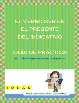 worksheet verbo ser pdf by luz engelmann | teachers pay