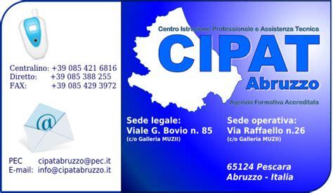 regione abruzzo sede legale il cipat abruzzo formazione professionale agenzia