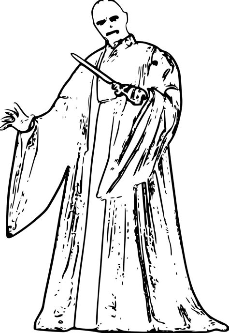 harry potter movie coloring pages evil lord voldemort free coloring page harry potter