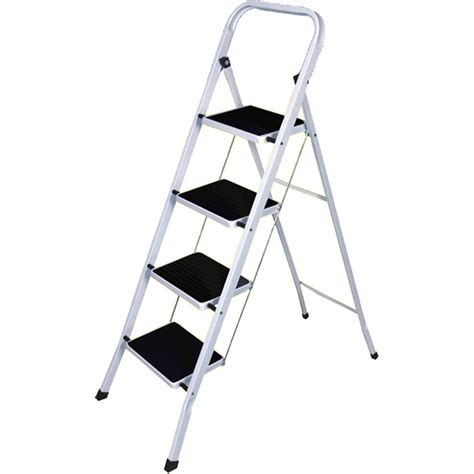 4 Step Step Stool mixed metal foldable 2 3 4 step ladder grip non slip tread loft safety ebay