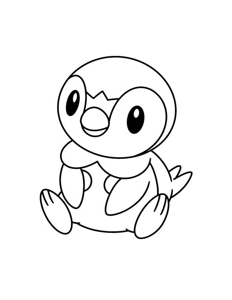 pokemon coloring pages of piplup pokemon diamond pearl coloring pages