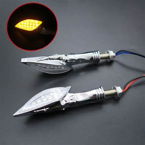 custom motorcycle turn signal lights chrome skull led turn signal light indicator motorcycle