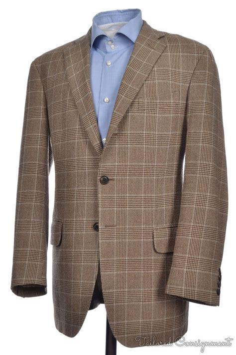 Coat Import Pria Jacket Jaket Wool boglioli coat brown plaid check 100 wool mens blazer