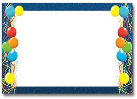 balloon border template free birthday balloons border fantastic frames 25683wall jpg