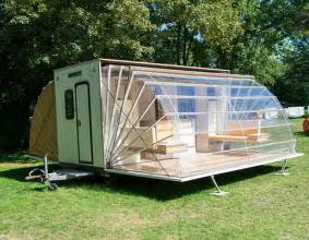 Caravan Porch Awnings For Sale A Collapsable Camper Unfolds Into Surprising Luxury