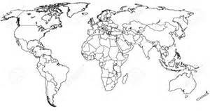 Black And White World Map by Similiar Black And White World Atlas Keywords