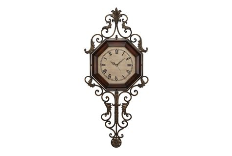 Home Decor Online Catalogs by 39 Inch Scroll Wood Amp Metal Wall Clock Living Spaces