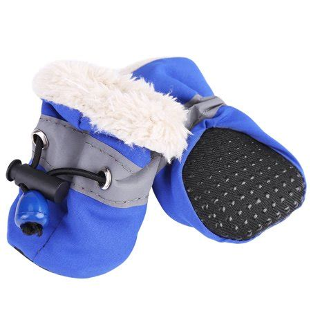 Pet Cotton Socks Set 4pcs Blue lv 4pcs set no slip pet shoes boots waterproof