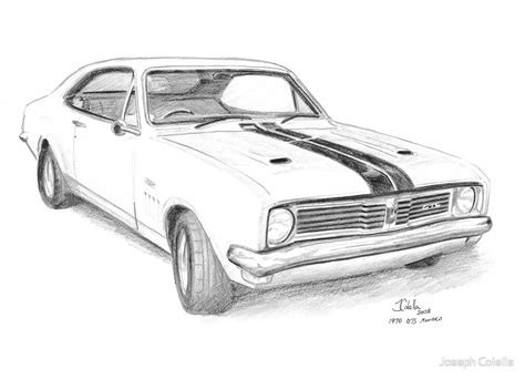 coloring pictures of holden cars quot 1970 holden gts monaro quot by joseph colella redbubble