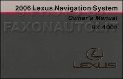 download car manuals 2000 lexus lx navigation system 2006 lexus rx 400h wiring diagram manual original
